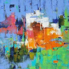 ORIGINAL Abstract Contemporary Abstract Art by MElizabethChapman, $1100.00