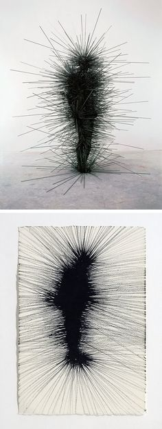 Capacitor (2001) - Finished sculpture above, study below