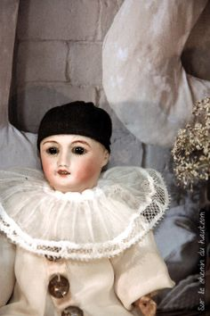 antique doll, pierrot