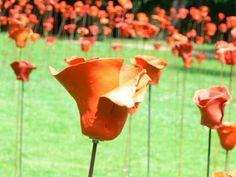 Victims of mines - poppies - Apopo - art - sculptures - philip moerman - www.moermansculptures.be