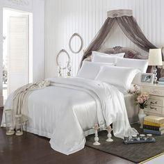 19 Momme Silk Sheets Purple Bedding Sets, Black Bedding, Purple Duvet, Silk Bedding, Duvet Bedding, Bedroom Black, Bedroom Bed, Bedroom Ideas, Bedroom Decor