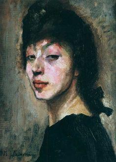 Autoportrait, circa 1905. Tête pensive, non daté, huile sur toile. Marie Laurencin (1883-1956).  Paris.