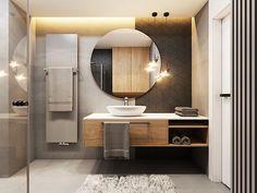 Bathroom Design Small, Bathroom Interior Design, Modern Bathroom, Small Apartment Plans, Bathroom Inspiration, Decoration, House Design, Home Decor, Modern Bathrooms