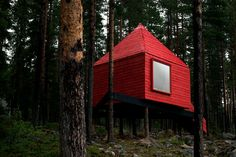 yes, please: The Blue cone - Treehotel, deep in the forest in Harads, Sweden