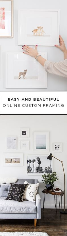 @Framebridge makes it easy to update your home with the art and photographs that make you unique! Choose your favorite frame style, mail-in your art or upload a photo, and Framebridge will send your piece back to you framed and ready to hang. With free shipping and help from a team of designers, curating a gallery wall is stress free.