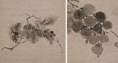 葡萄図 没倫紹等筆 延徳3年(1491)部分