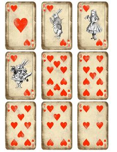 Kitty Playing Cards Printable | Alice in Wonderland play card printable. Whimsical by KatarinArt, $5 ...