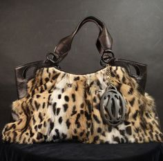 "Fur Leopard Marcello de ""Cartier"" Bag"