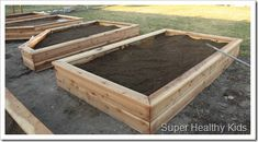 How to make your own garden boxes.