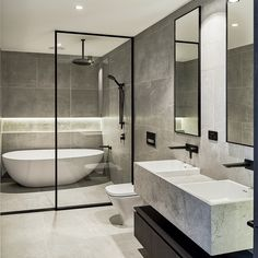 Brookville Road Residences by Megowan Architectural - Bathroom - Bathroom Decor Bathroom Renos, Bathroom Layout, Bathroom Ideas, Bathroom Storage, Bathroom Organization, Wet Room Bathroom, Bathroom Renovations, Bathroom Mirrors, Remodel Bathroom
