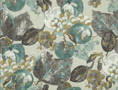 Himma Gardens Collection, 54 inch Width, Jim Thompson Fabric, For curtains and upholstery Linen Curtains, Curtain Fabric, Linen Fabric, Jim Thompson Fabric, France Colors, Mural Painting, Paintings, Printed Linen, Custom Pillows