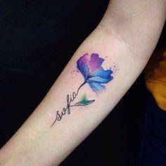 Nombre Saliendo De Flor Tattoos Tattoos Y Blossom Tattoo
