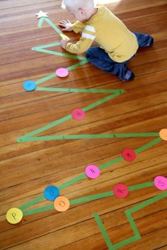A Christmas tree activity that gets kids learning upper and lowercase letters while moving!