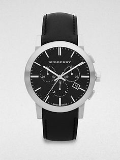 I can't forget about dad this Christmas! My father would look so fly with this Burberry  Stainless Steel Chronograph Watch.