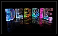 The Name Debbie in 3D coloured lights. #Debbie #Name Debbie