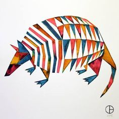 "Saatchi Art Artist Daphne Bally; Drawing, ""Armadillo"" #art"