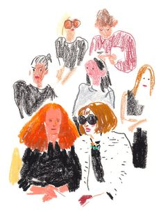 Damien Florebert Cuypers - Grace Coddington and Anna Wintour
