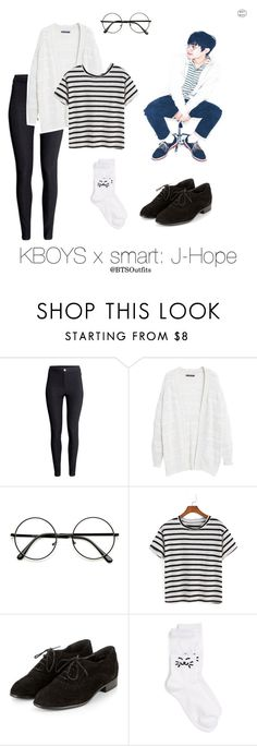 """KBOYS x smart: J-Hope"" by btsoutfits ❤ liked on Polyvore featuring H&M, Violeta by Mango and Girly"