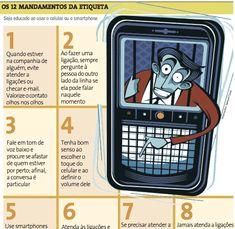 Saiba quais são as regras de etiqueta no uso de celulares e smartphones - part 01