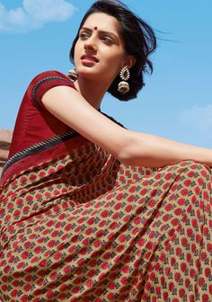cotton saree - http://mysareewardobe.tumblr.com/image/87337574984