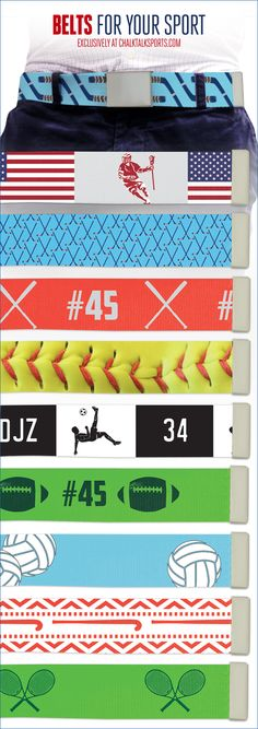 Check out our selection of fashionable soccer belts at ChalkTalkSPORTS.com!