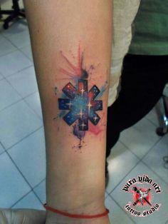 Aquarela splash tattoo