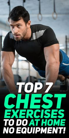 Fitness Workout For Beginners – Burn Fat & Build Muscle Anywhere Chest And Tricep Workout, Chest Workout For Men, Home Workout Men, Triceps Workout, Shoulder Workout, At Home Workouts, Pec Workouts, Weight Training Workouts, Chest Workouts