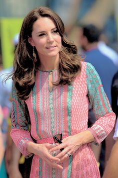 Kate during a visit to meet children from Magic Bus, Childline and Doorstep in Mumbai, India. April 10, 2016