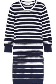 Marta striped silk and cashmere-blend sweater dress