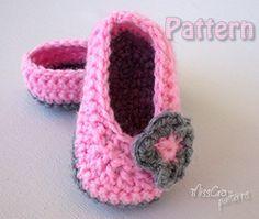 Crochet  Baby booties  Crochet pattern  ballet shoes by MissCro