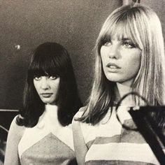 Gillian Hills & Jane Birkin in Blow Up 1966 my childhood movie w ith the yardbirds in it! Loved as a kid... a experience ❤