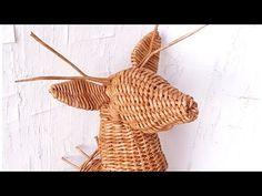 Плетем Оленя из газетных трубочек 3! Трансляция! Willow Weaving, Basket Weaving, Rattan, Wicker, Corn Husk Dolls, Paper Weaving, Nursery Storage, Toilet Paper Roll Crafts, Newspaper Crafts