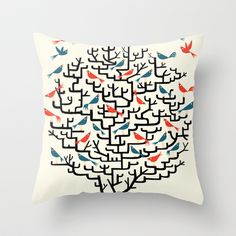 Out On a Lark Throw Pillow by Oliver Lake - $20.00