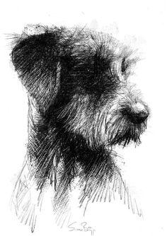 dog training,teach your dog,dog learning,dog tips,dog hacks Animal Sketches, Animal Drawings, Dog Drawings, Pencil Art Drawings, Drawing Sketches, Life Drawing, Painting & Drawing, Drawing Artist, Scribble Art