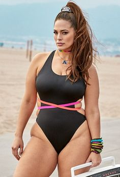 82e7253af81 Ashley Graham x Swimsuits For All Throwback One Piece Swimsuit Swimsuits  For All, Plus Size