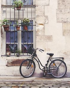 Bicycle Art, Paris Photography, Pale White and Cream, Bike Print, Cobblestones, French Home Decor - Le Velo