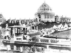 Festival Hall Cascades and Lagoon at the 1904 World's Fair seen from the northwest. Photograph by Emil Boehl Missouri History Museum Photographs and Prints Collections. History Museum, World History, Family History, Art Museum, Festival Hall, Louisiana Purchase, St Louis Mo, Forest Park, World's Fair