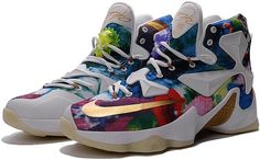 brand new 2e49b 05d32 LeBron 13 iD 25K Womens Blue Purple Red Black White Gold0 Teal, Purple, Blue