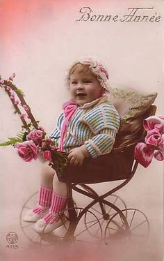 Image: 'Vintage Postcard ~ Chubby Cheeks', found on flickrcc.net