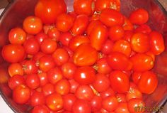 tomatoes, just sweet