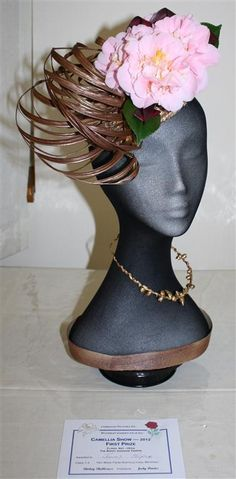 images of hats made in floral art - Google Search