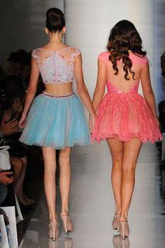 The Jenner sisters walking at NYFW- soooo jealous. :p