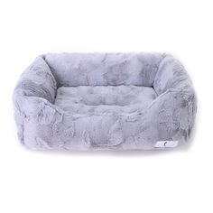 Luxe Collection Dog Bed - Silver | Neiman Barkus Couture