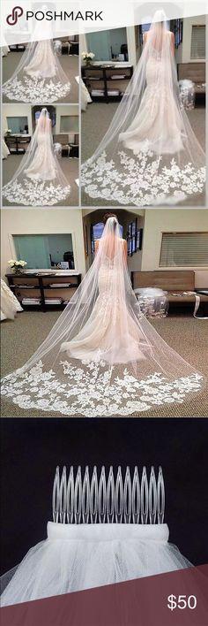 Long cathedral veil Bought the veil before the dress ... and sadly .. they don't go together . Got a good deal on it .. so forwarding the good deal along as well. It's a beautiful veil ... Other