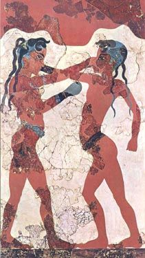 Wall Mural of Boxing Children, Minoan city of Knossos
