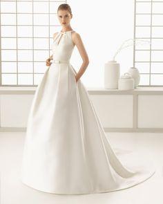 Vestido de noiva de otomana. Coleção 2016 Rosa Clará