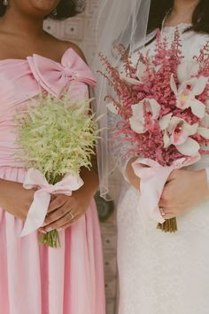 Palms Springs Christmas Wedding/ Bright Pink Flowers
