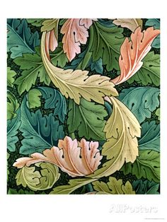"""Acanthus"" Wallpaper Design, 1875 reproduction procédé giclée par William Morris sur AllPosters.fr"