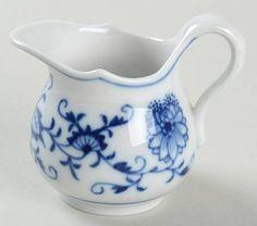 "Meissen (Germany) Blue Onion (""X"" Backstamp) Mini Creamer"