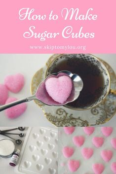 Homemade Shaped Sugar Cubes I love making shaped sugar cubes. They are super easy to make and add such a nice detail to a party or just make daily tea drinking extra special! These homemade shaped sugar cubes would also make a nice homemade gift. Chocolate Chip Shortbread Cookies, Toffee Cookies, Spice Cookies, Yummy Cookies, Mocha Drink, Salted Caramel Mocha, Caramel Apples, Tea Recipes, Picnic Recipes